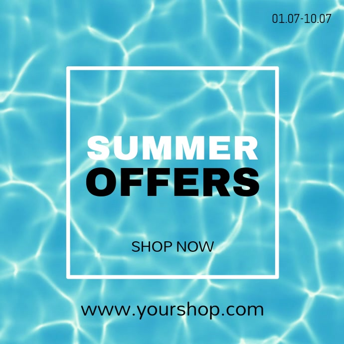 Sumer Sale Beach water offer video advert Shop now store ad