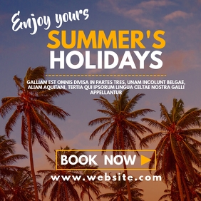 summer's holiday instagram post advertisement template