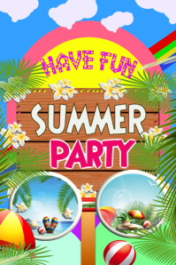 summer, Beach, Party, Flyer, Poster