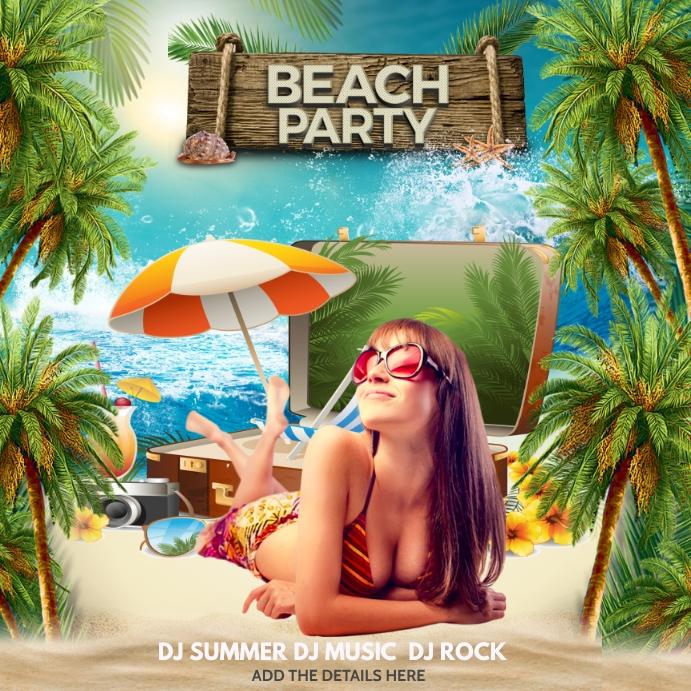 summer, Beach ,Holidays Kvadrat (1:1) template