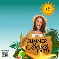 Summer, Party Instagram-bericht template