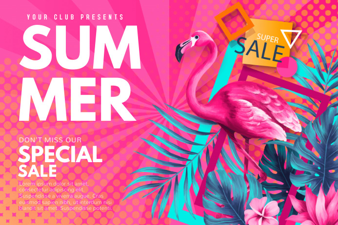 summer, spring, end of season sale Plakat template
