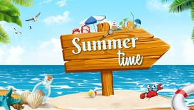 Summer,blog header template