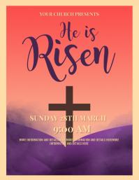 Easter,good friday,palm sunday Рекламная листовка (US Letter) template
