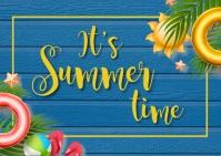 summer,retail,event,party Poskaart template