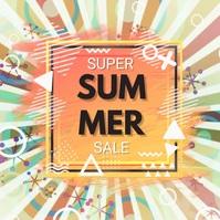 summer,retail,event Post Instagram template