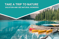 Summer,vacation,nature,holidays,trip Banner 4' × 6' template