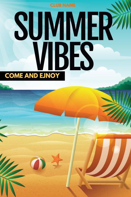 summer ,beach party Poster template