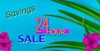 Summer 24 Hour Sale Digital Ad โฆษณา Facebook template