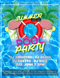 customizable design templates for pool party postermywall rh postermywall com pool party flyer template photoshop pool party flyer template photoshop