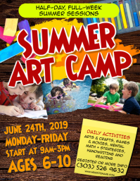 Summer Art Camp Flyer