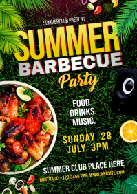 Summer Barbecue Party Flyer A4 template