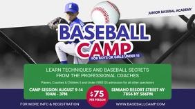 Summer Baseball Camp Advert Banner