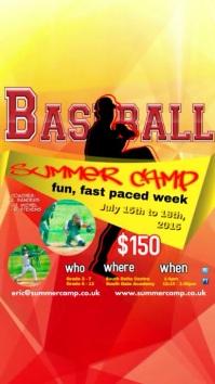 Summer Baseball Camp Digitalanzeige (9:16) template