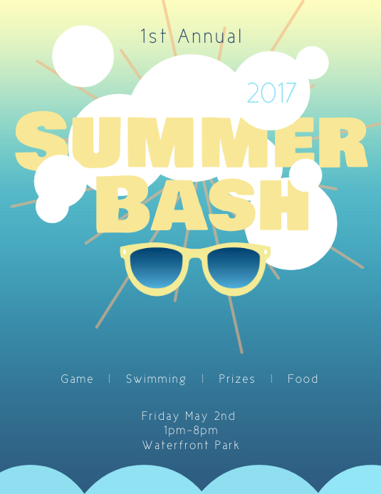 Customizable design templates for summer flyer postermywall summer bash flyer template saigontimesfo