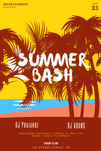 Summer Bash Party Flyer Template