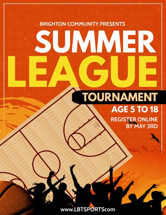 Summer Basketball Volante (Carta US) template