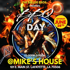 SUMMER BBQ DAY PARTY FLYER