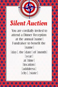 Summer BBQ Dinner Fundraiser Event Flyer Invitation