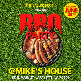 SUMMER BBQ PARTY FLYER 2