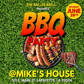 SUMMER BBQ PARTY FLYER Instagram Post template
