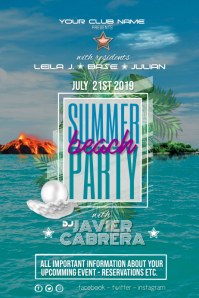 Summer Beach Dj Party Event Party Poster