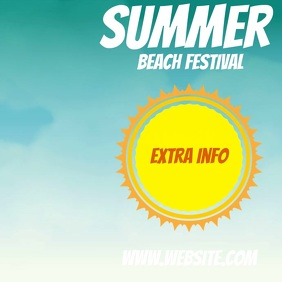 summer beach event ad social media