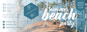 Summer Beach Party Banner Invitation Ikhava Yesithombe se-Facebook template
