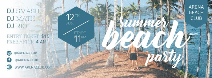 Summer Beach Party Banner Invitation
