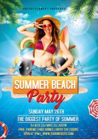 Summer Beach Party A3 template