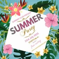 Summer Beach Party Flyer Template Instagram-Beitrag