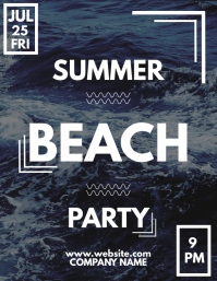 Summer beach party flyer template design