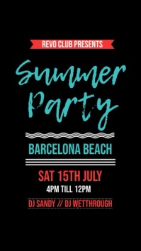Summer Beach Party Instagram Template
