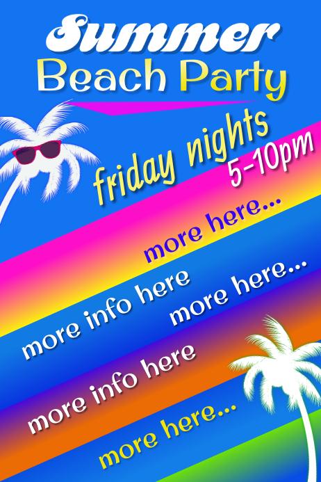 Summer Beach Party Poster