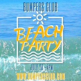 Summer Beach Party Video Template