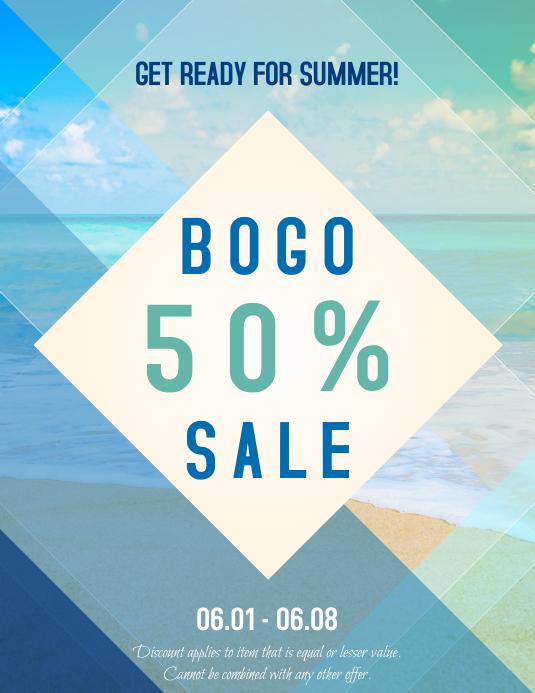 Summer Beach Sales Ad