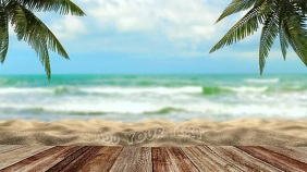 Summer Beach Zoom Virtual Background Video Presentation (16:9) template