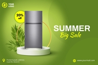 summer big sale Banner Bannière 4' × 6' template