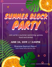 Summer Block Party Invitation