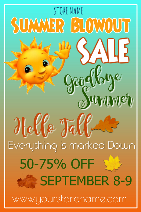 Summer Blowout Sale Poster Template