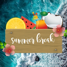 Summer Break Сообщение Instagram template