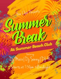170 customizable design templates for summer beach party flyer