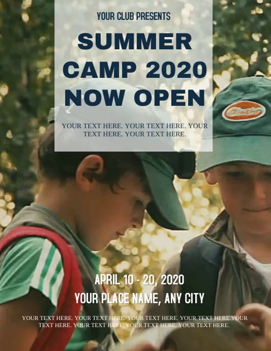 Summer Camp ad Flyer Template