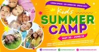SUMMER CAMP BANNER Facebook Shared Image template
