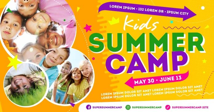 SUMMER CAMP BANNER auf Facebook geteiltes Bild template