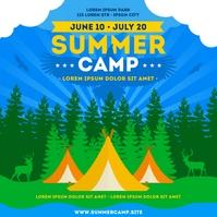 SUMMER CAMP BANNER Publicación de Instagram template