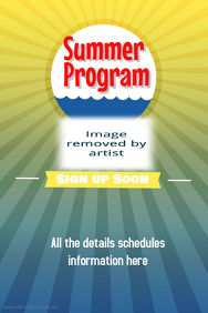 Summer Camp Beach Party Concert Flyer Template