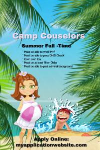 Summer Camp Counselor Hiring Flyer