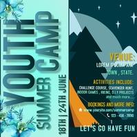 Summer camp Pos Instagram template