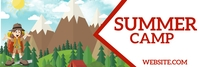 Summer Camp Banner di LinkedIn template